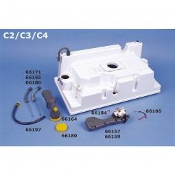 Absperrblock (Ersatzteil für Cassetten-Toiletten C4)